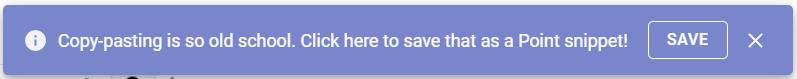 Point copy-paste notification